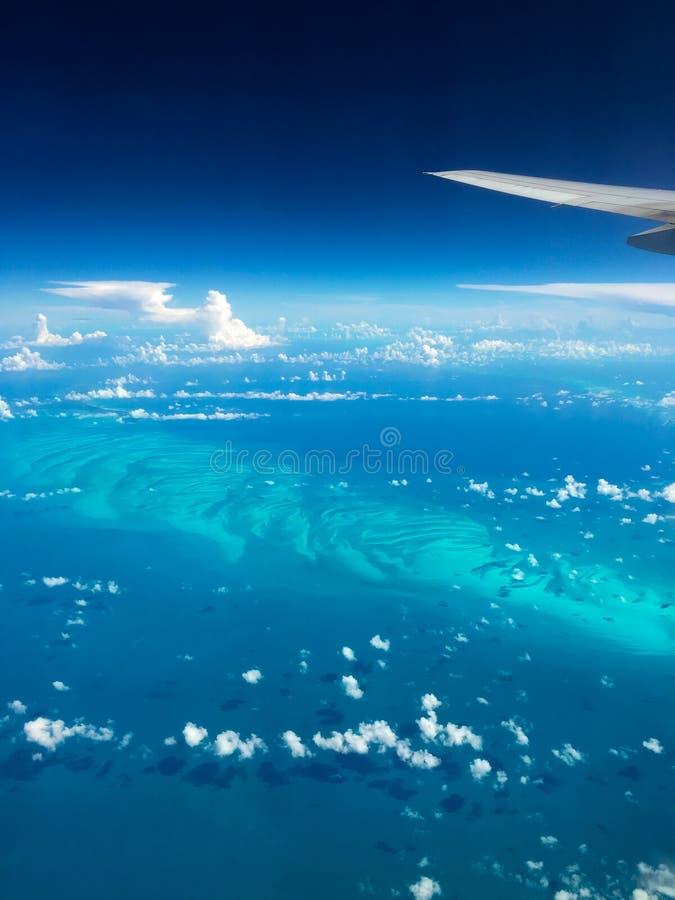 Vista aérea de las islas de Bahamas fotografía de archivo