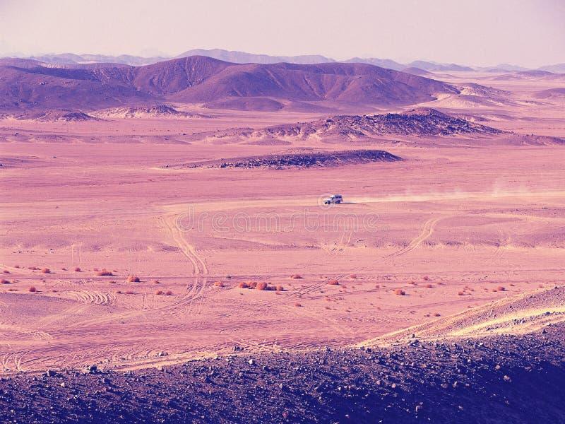 Vista aérea de las montañas del desierto de Sachara fotografía de archivo