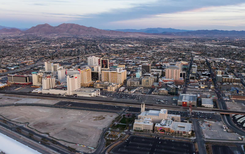 Vista aérea de Las Vegas del norte imagenes de archivo