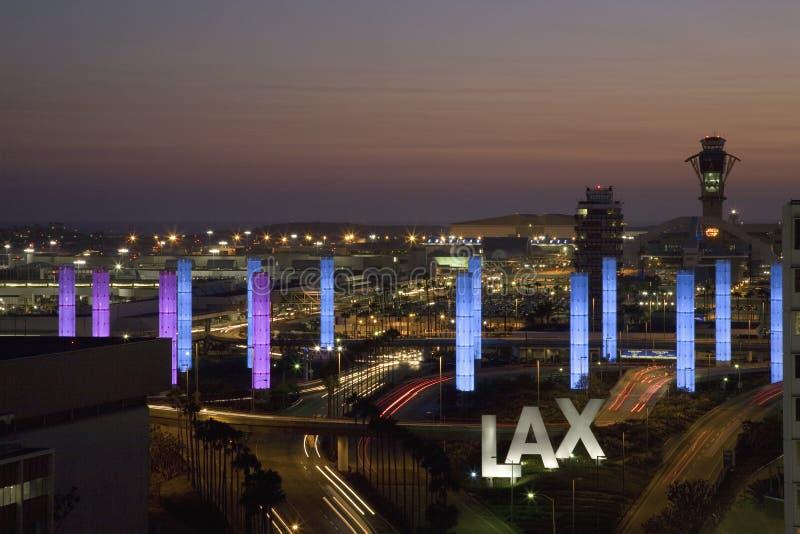 Vista aérea de LAX fotografía de archivo libre de regalías