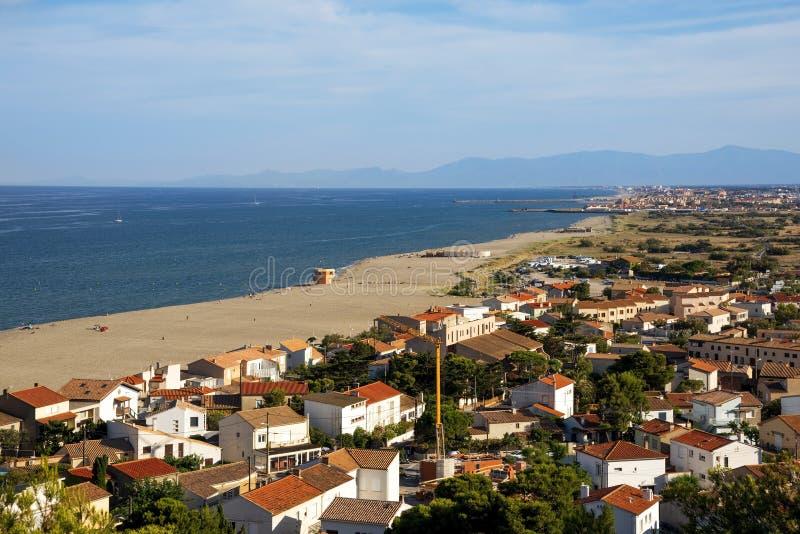 Vista aérea de Leucate, en Francia fotos de archivo libres de regalías