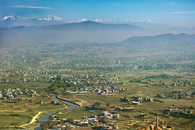 Vista aérea de Lhasa fotografia de stock