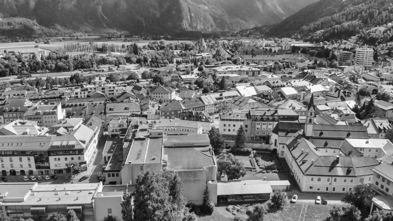 Vista aérea de Lienz, Áustria imagem de stock royalty free