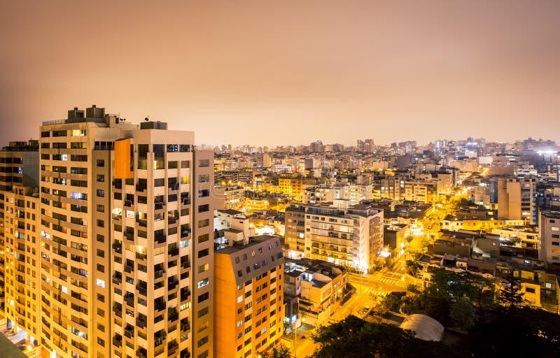 Vista aérea de Lima imagen de archivo libre de regalías