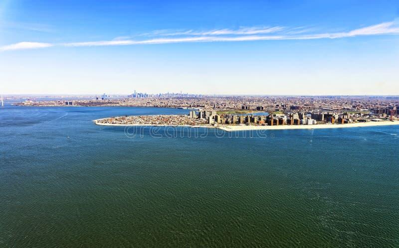 Vista aérea de Long Island em New York imagens de stock royalty free