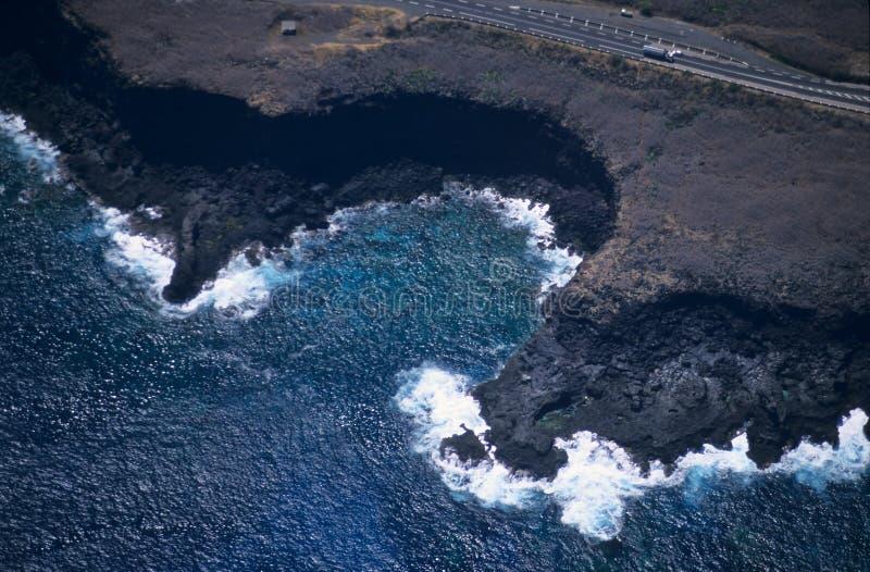 Vista aérea de los chateaux Reunion Island del DES de Pointe foto de archivo
