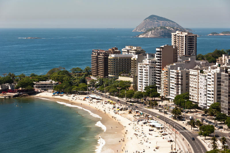 Vista aérea de los edificios residenciales y del hotel de lujo fotos de archivo libres de regalías