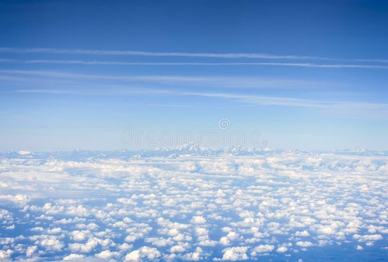 Vista aérea de los Pirineos imagen de archivo