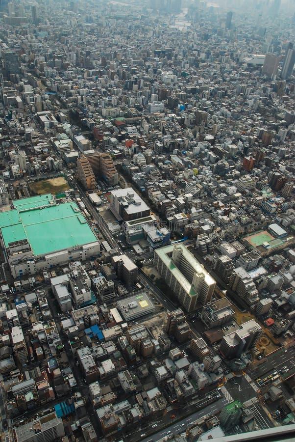 Vista aérea de los rascacielos del Midtown Tokio Japón fotografía de archivo libre de regalías