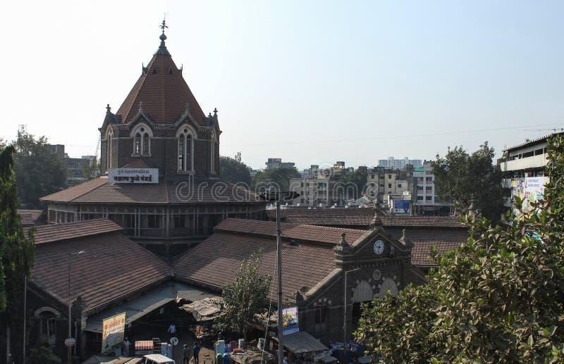 Vista aérea de Mahatma Phule Mandai, Pune, Maharashtra, Índia imagem de stock royalty free
