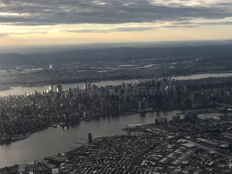 Vista aérea de Manhattan fotografía de archivo libre de regalías