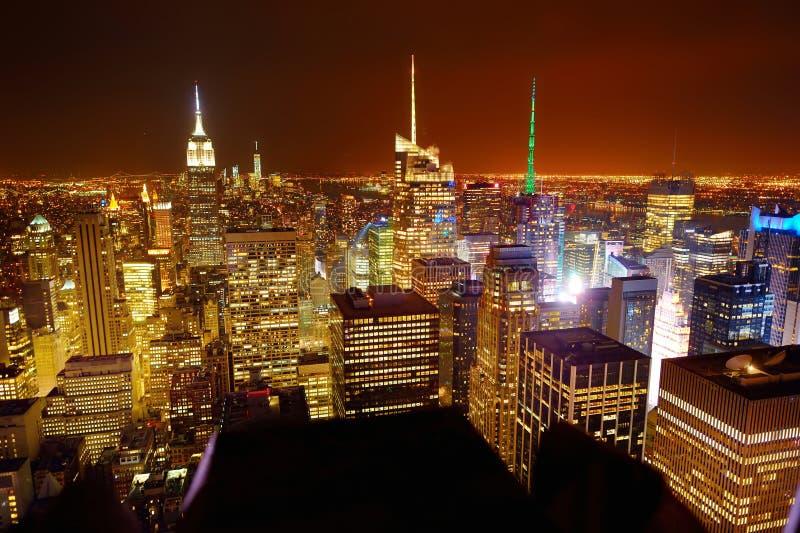 Vista aérea de Manhattan da parte superior da rocha imagem de stock