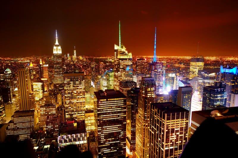 Vista aérea de Manhattan da parte superior da rocha foto de stock