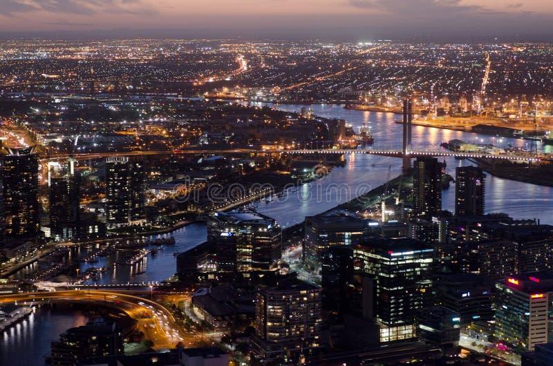Vista aérea de Melbourne Australia imagen de archivo