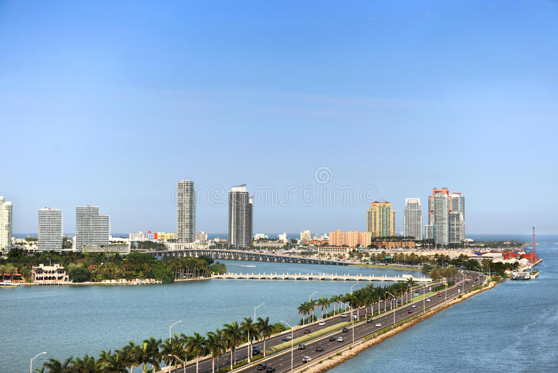 Vista aérea de Miami Beach imágenes de archivo libres de regalías
