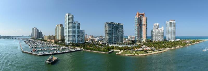 Vista aérea de Miami Beach sul foto de stock