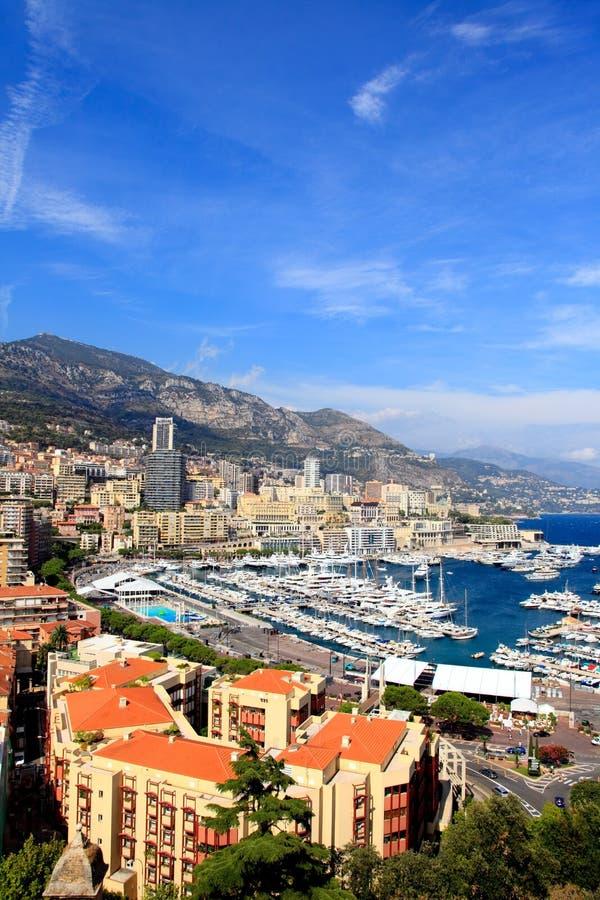 Vista aérea de Monte-Carlo Monaco fotos de stock