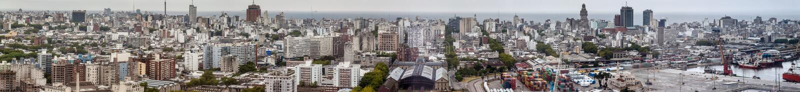 Vista aérea de Montevideo foto de stock
