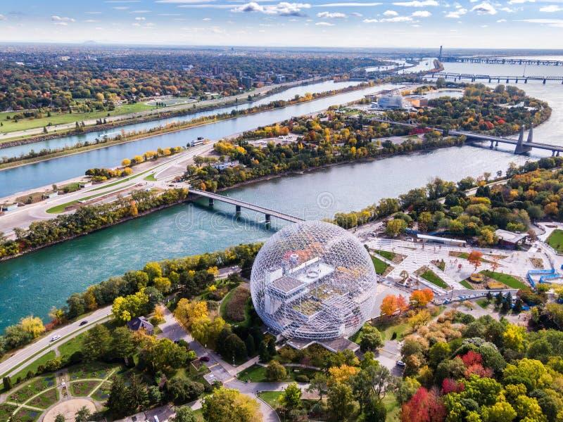 Vista aérea de Montreal, Quebeque, Canadá fotos de stock royalty free