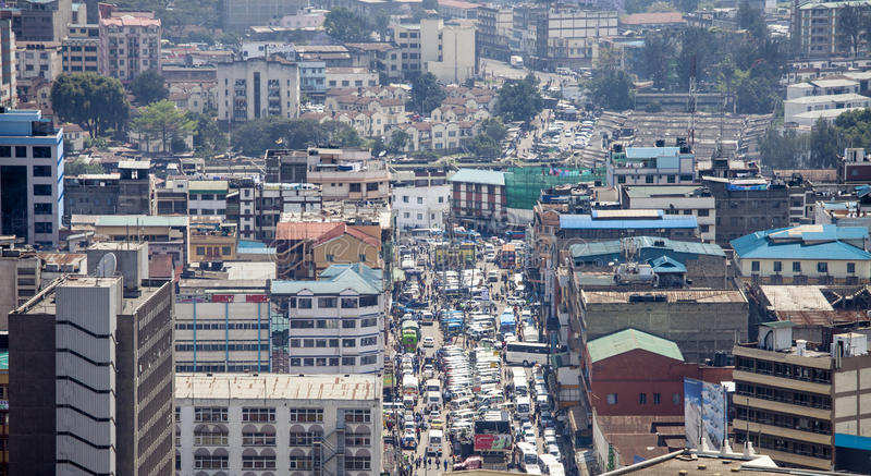 Vista aérea de Nairobi, Kenia imagenes de archivo
