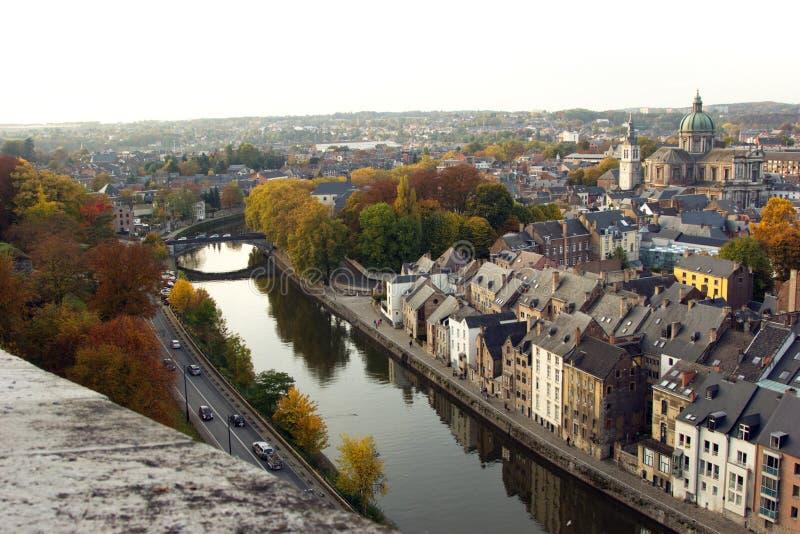 Vista aérea de Namur, Bélgica, Europa fotografia de stock