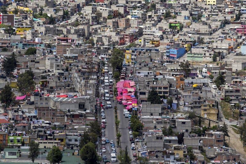 Vista aérea de Naucalpan foto de archivo