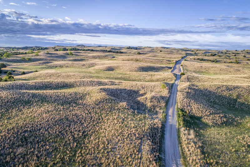 Vista aérea de Nebraska Sandhills fotografia de stock royalty free