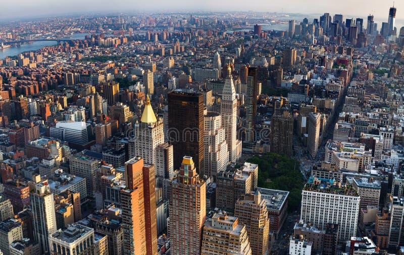 Vista aérea de New York City imagen de archivo