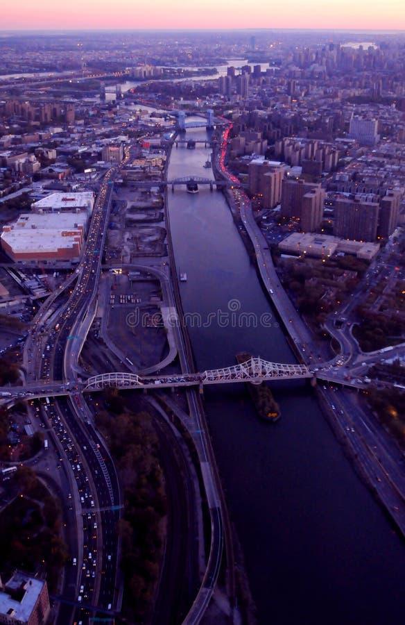 Vista aérea de New York City fotos de stock royalty free