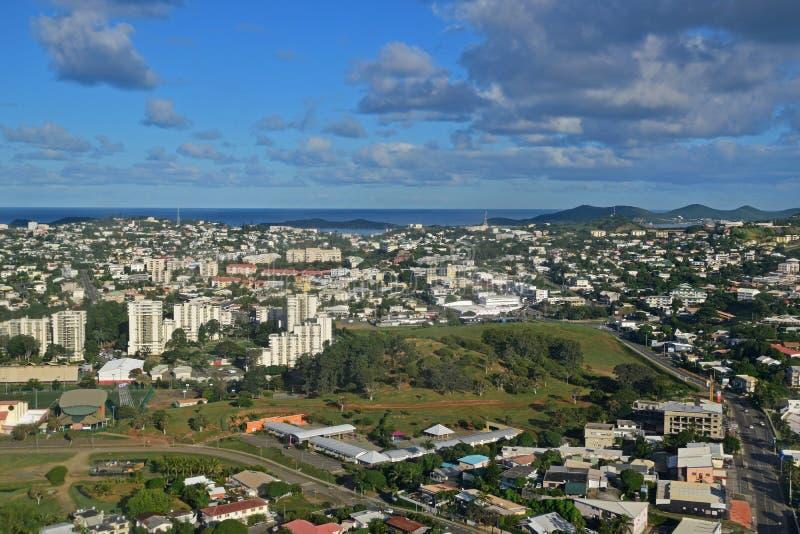 Vista aérea de Noumea, Nueva Caledonia imagen de archivo libre de regalías