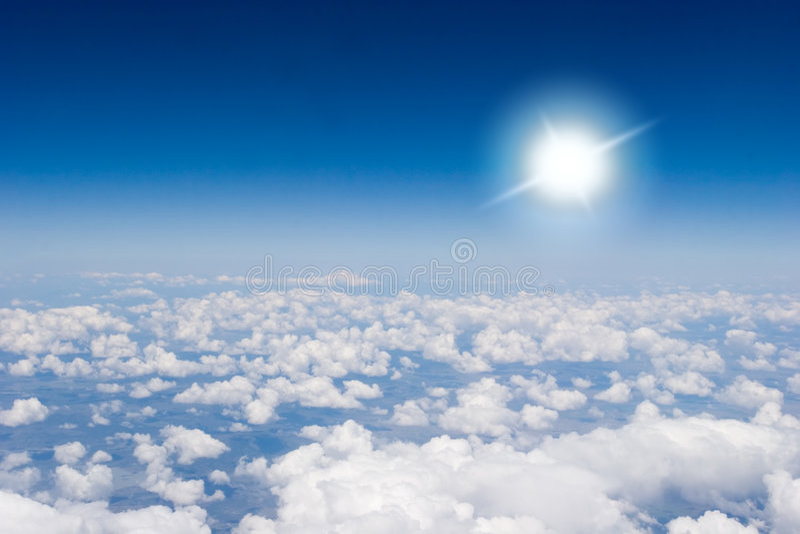Vista aérea de nubes fotos de archivo