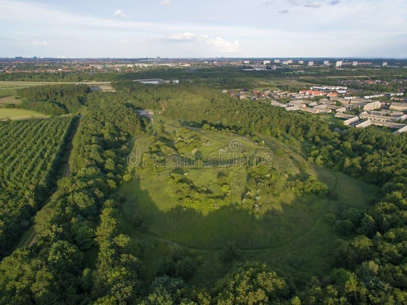 Vista aérea de Oxbjerget, Dinamarca fotos de stock