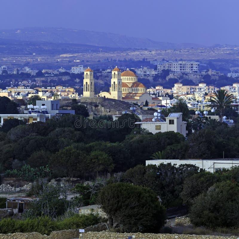 Vista aérea de Paphos, Chipre imagen de archivo