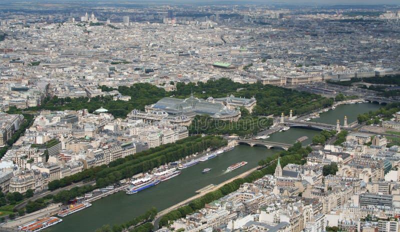 Vista aérea de París fotos de archivo libres de regalías