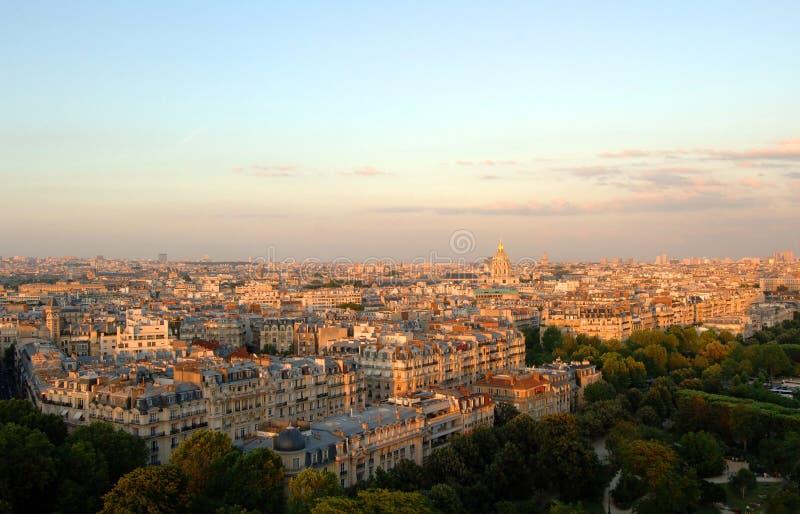 Vista aérea de París imagen de archivo