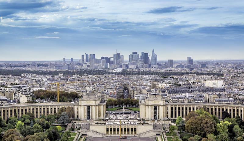 Vista aérea de Paris foto de stock