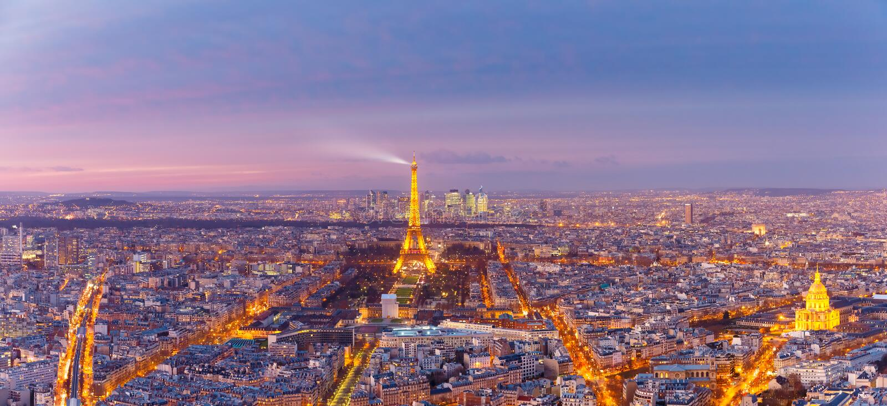 Vista aérea de Paris com Les Invalides, França fotografia de stock royalty free