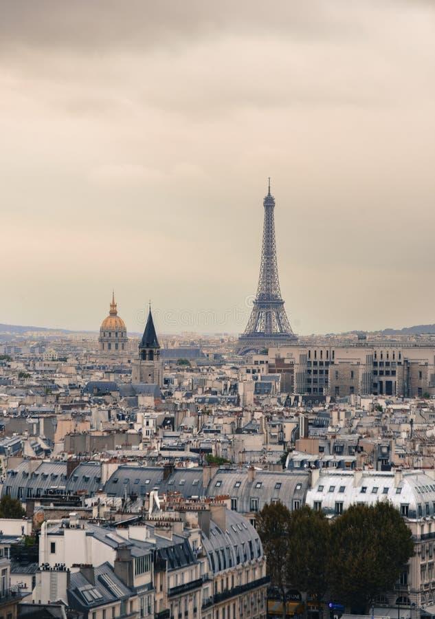 Vista aérea de Paris, France imagem de stock