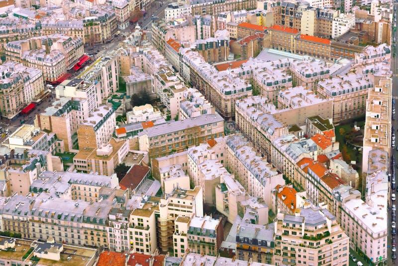 Vista aérea de Paris, France fotos de stock royalty free