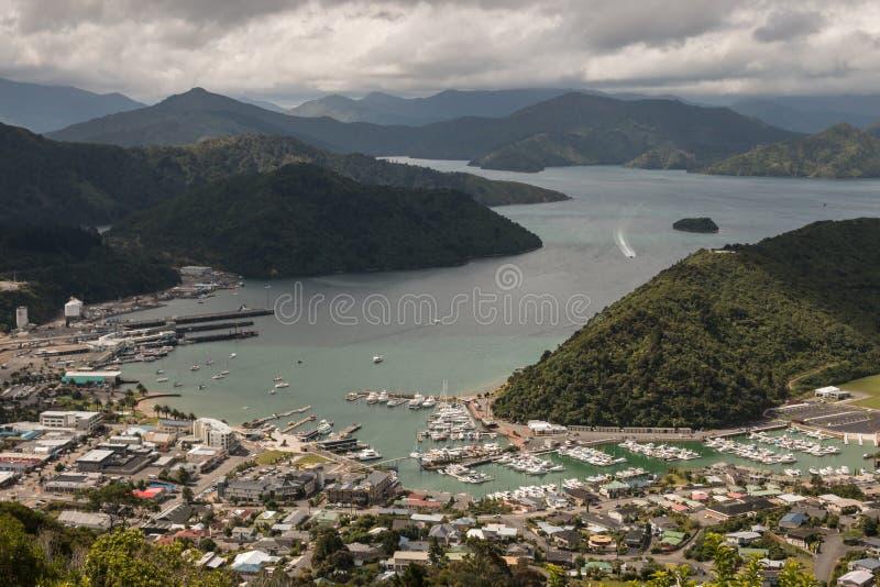 Vista aérea de Picton imagem de stock royalty free