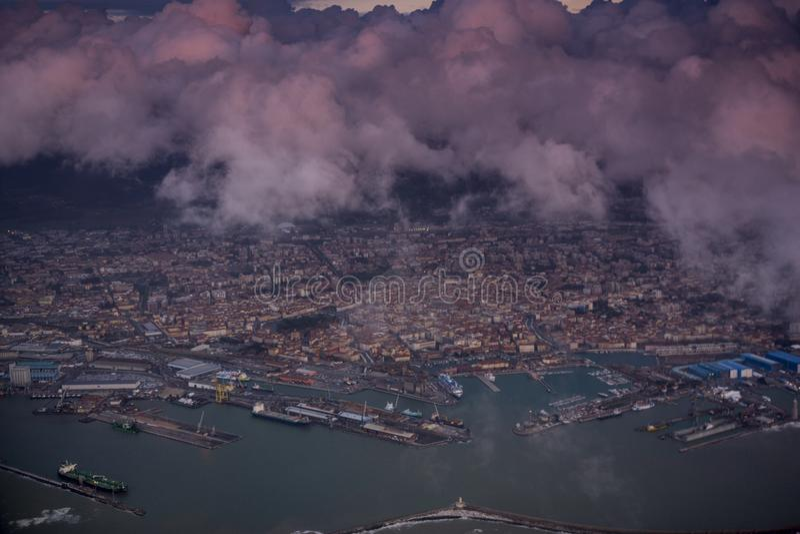 Vista aérea de Pisa fotos de stock