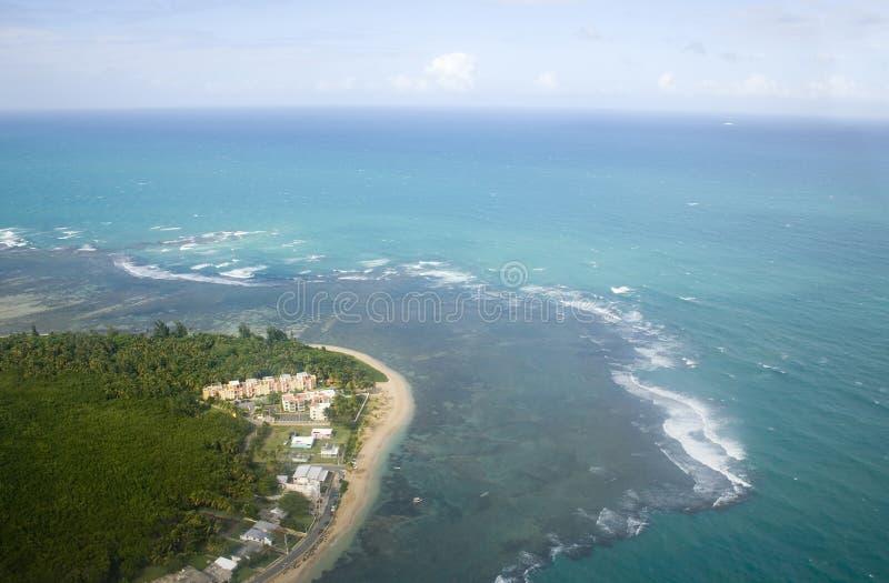 Vista aérea de Porto Rico do nordeste fotografia de stock