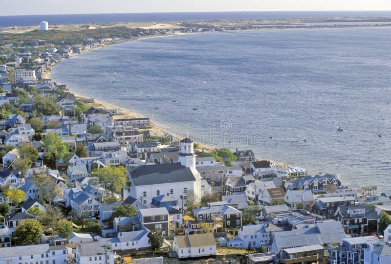 Vista aérea de Provincetown, Massachusetts imagen de archivo libre de regalías