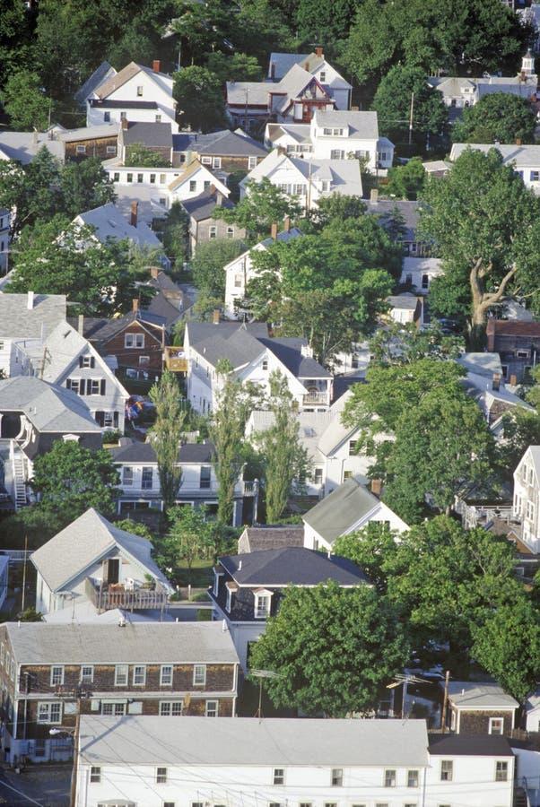 Vista aérea de Provincetown, Massachusetts fotos de archivo libres de regalías