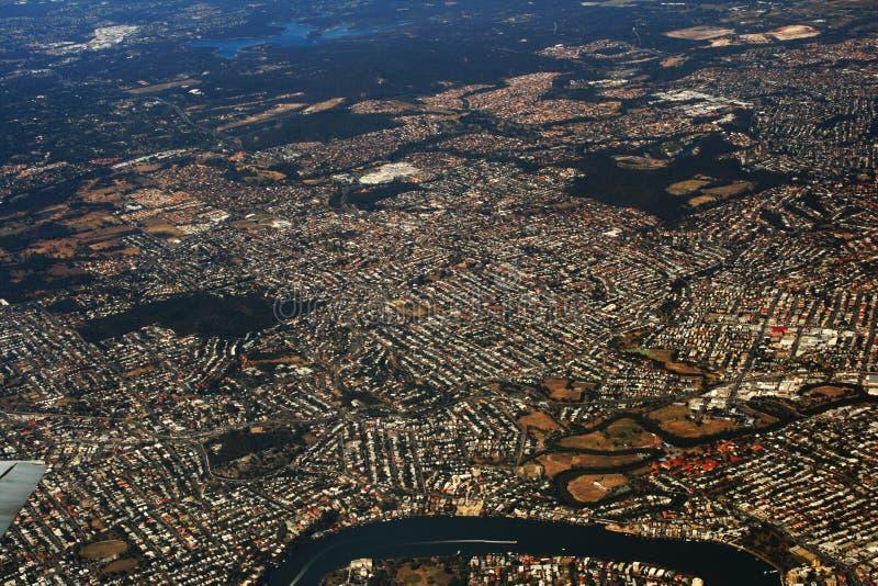Vista aérea de Queensland fotos de archivo libres de regalías