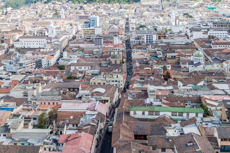 Vista aérea de Quito imágenes de archivo libres de regalías