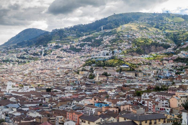 Vista aérea de Quito foto de archivo libre de regalías