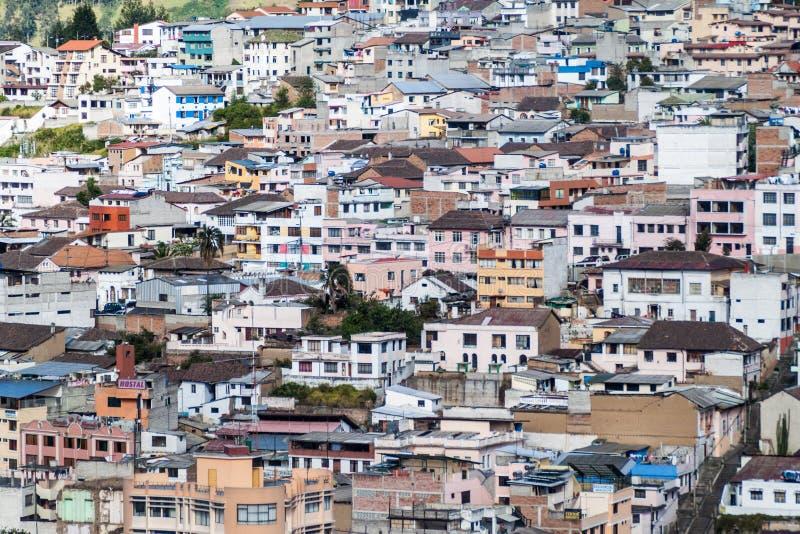 Vista aérea de Quito fotos de archivo libres de regalías
