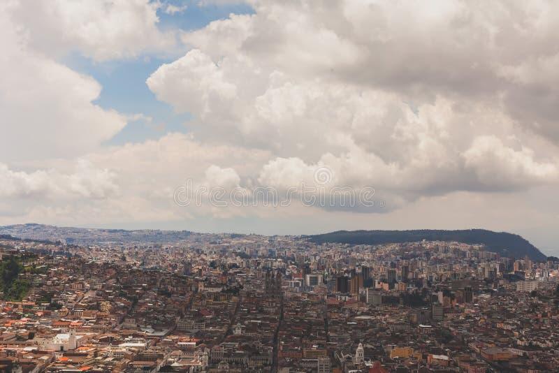 Vista aérea de Quito Ecuador imágenes de archivo libres de regalías