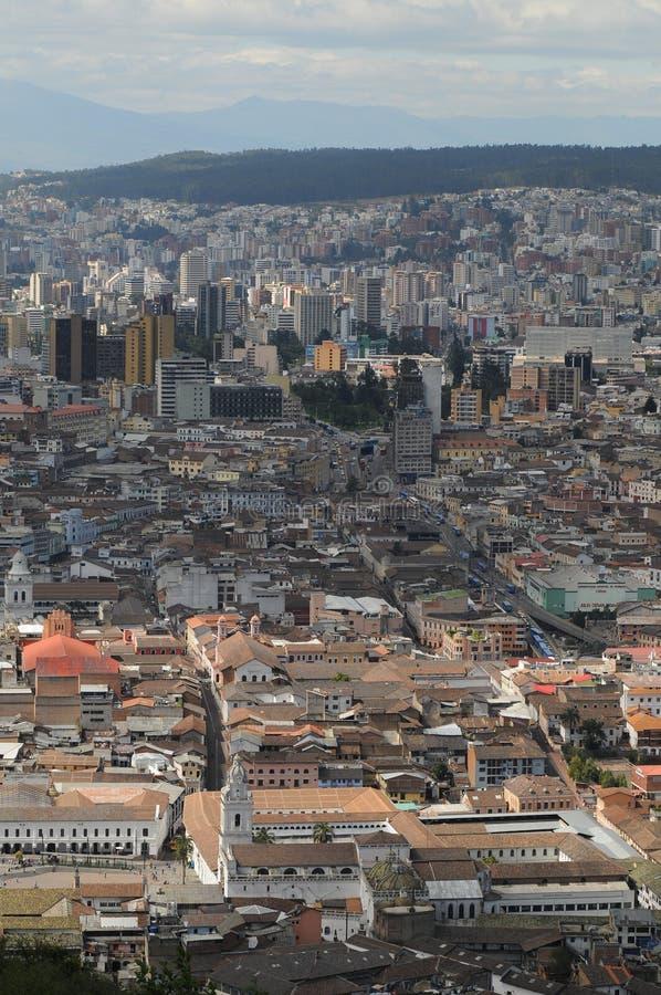 Vista aérea de Quito, Ecuador fotografía de archivo